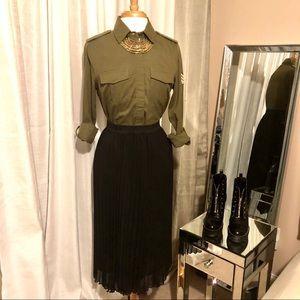 Roxy Military Influence Button Down Shirt Sz XS
